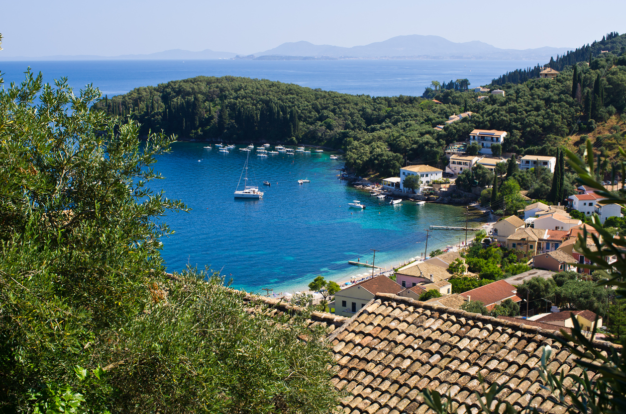 Kalami bay on Corfu island - Greece